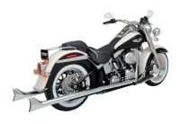 Python Fishtail Dual Exhaust For Harley Softail