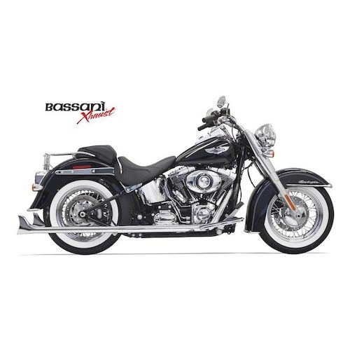 Bassani True Dual Pipes With Long Fishtails For Harley