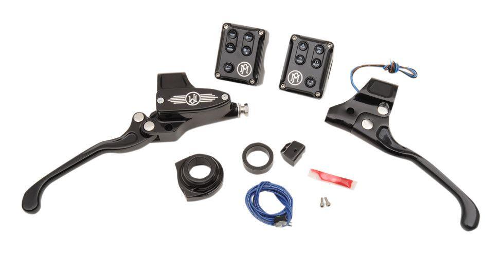 Performance Machine Hand Control Set For Harley 2011-2018