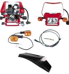 baja designs dual sport kit for electric start honda crf250x crf450x 2004 2016 revzilla [ 2072 x 1992 Pixel ]