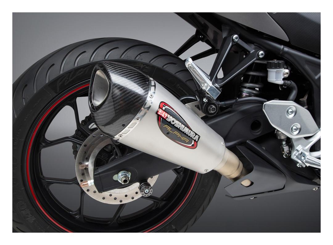 yoshimura alpha t works race exhaust system yamaha r3 2015 2021