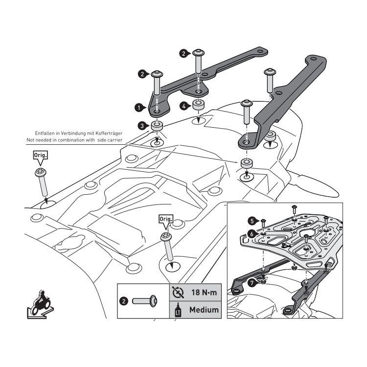 SW-MOTECH Adventure-Rack Lowering Kit BMW R1200GS