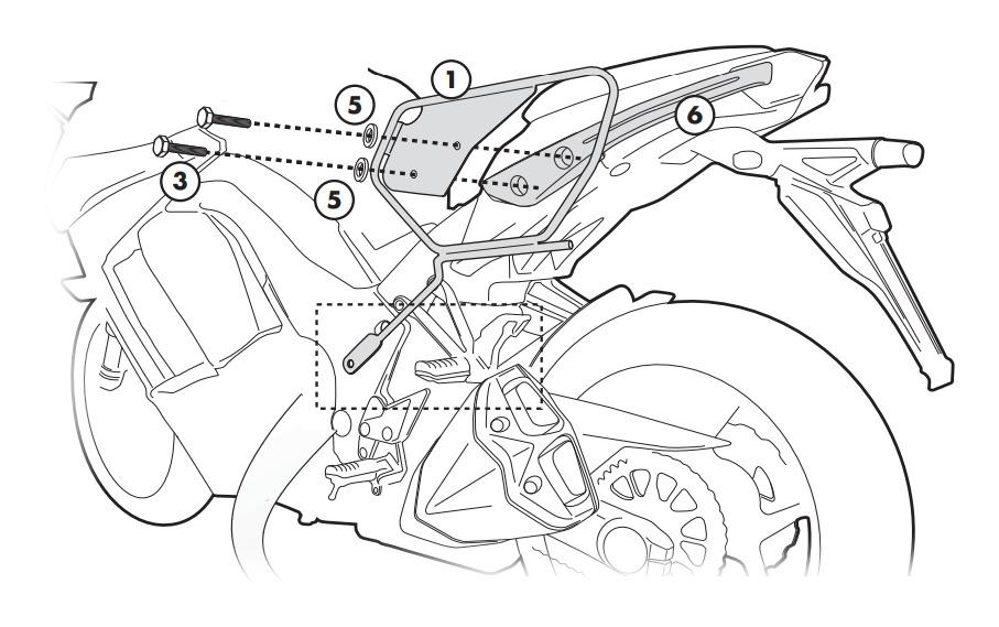 Givi TE4100 Easylock Saddlebag Supports Kawasaki Ninja