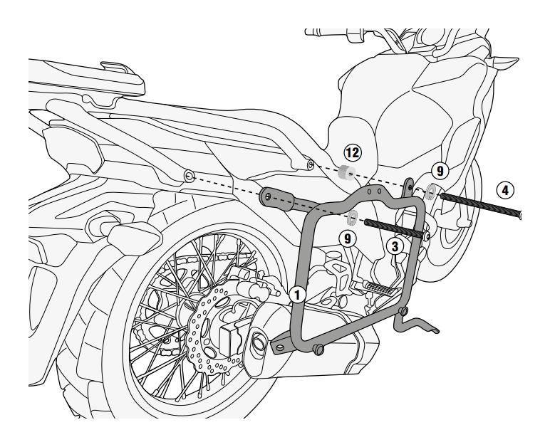 Givi PL4121 Side Case Racks Kawasaki Versys 300 2017-2018