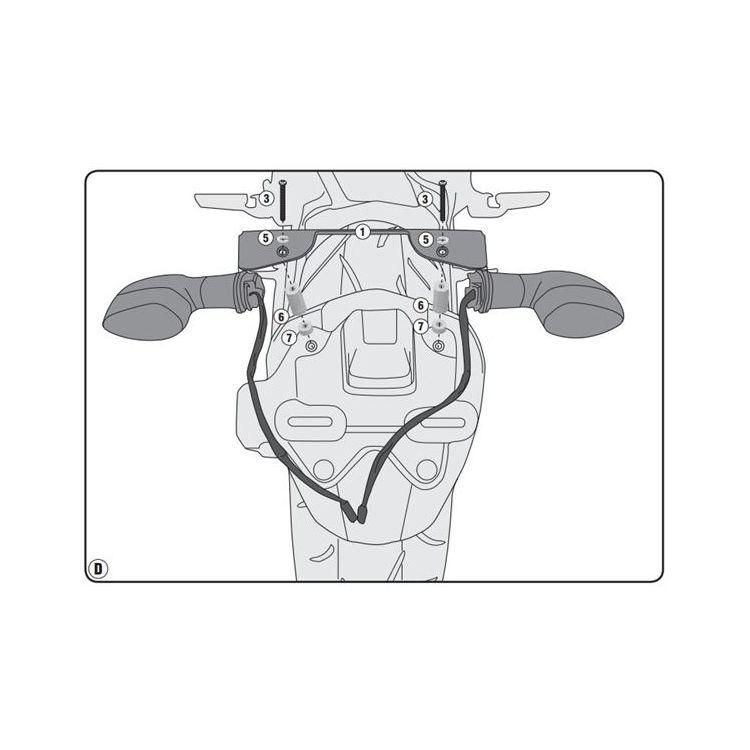 Givi IN2132KIT Turn Signal Relocation Kit Yamaha FZ-09