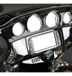 wild boar by hogtunes front speakers lids 600 watt amp kit for harley touring 2014 2019 revzilla [ 1680 x 837 Pixel ]