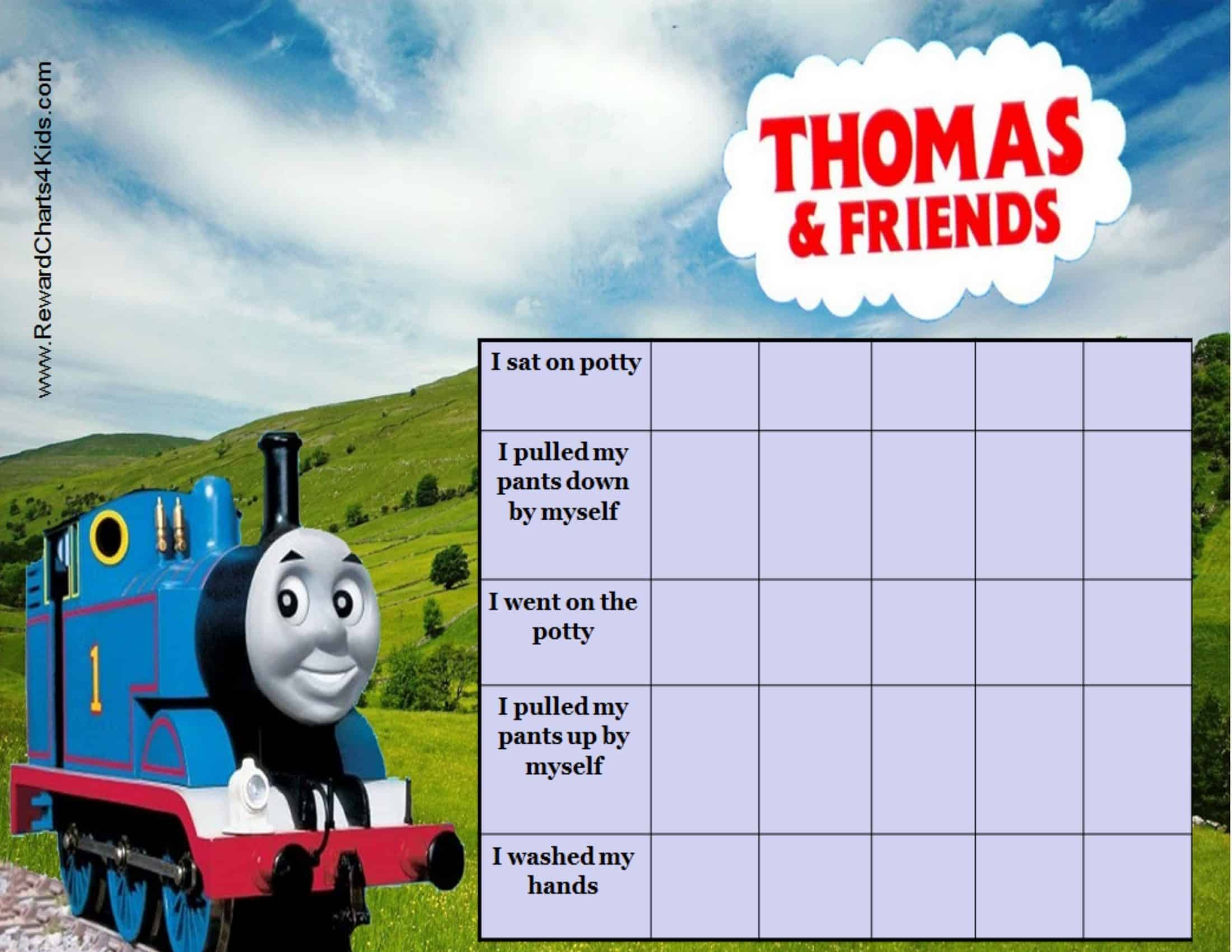 How To Teach Your Child To Read Thomas Train Potty Chart