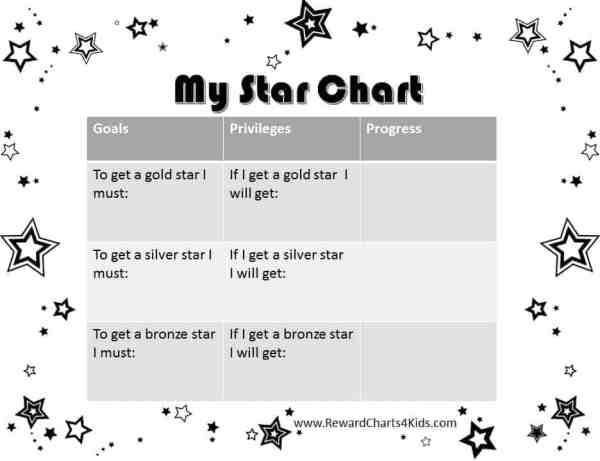 Free Printable Star Charts for Kids