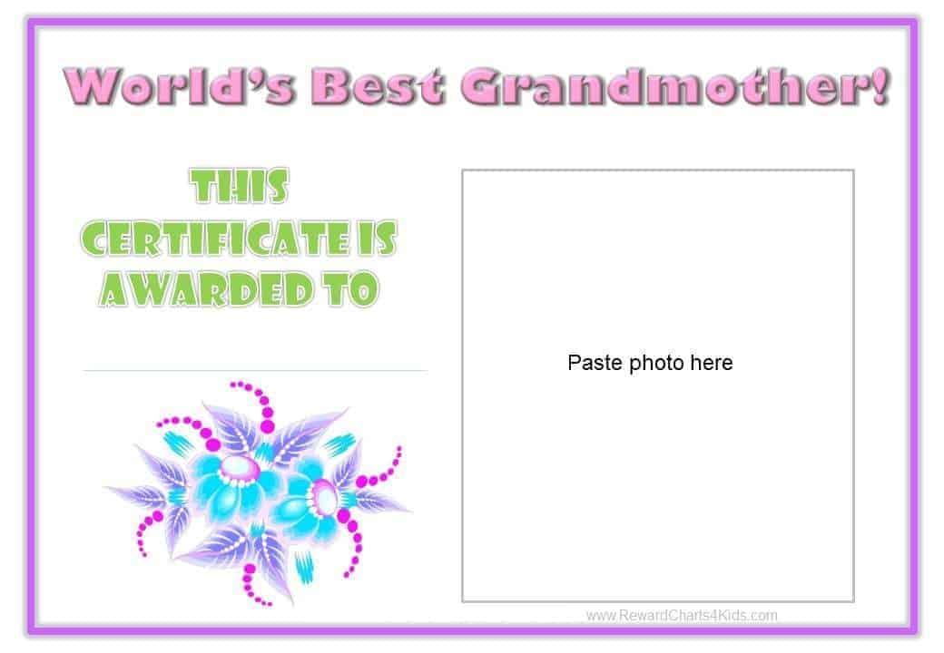 world s best certificate printable