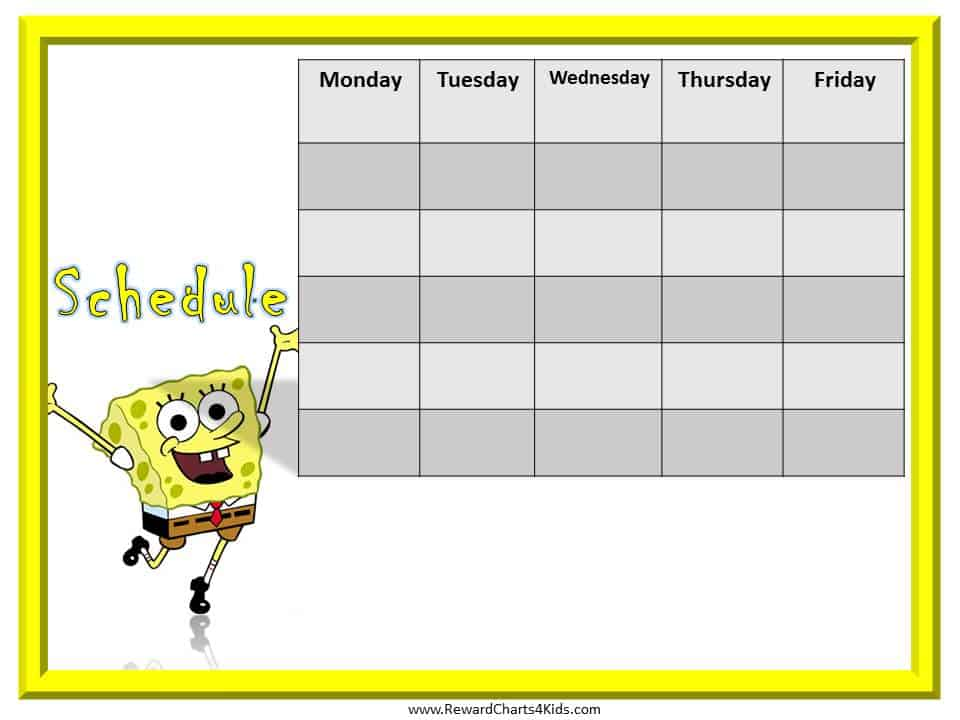free printable schedules