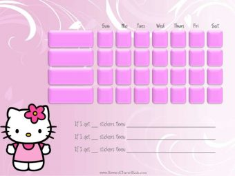 Hello Kitty Behavior Chart