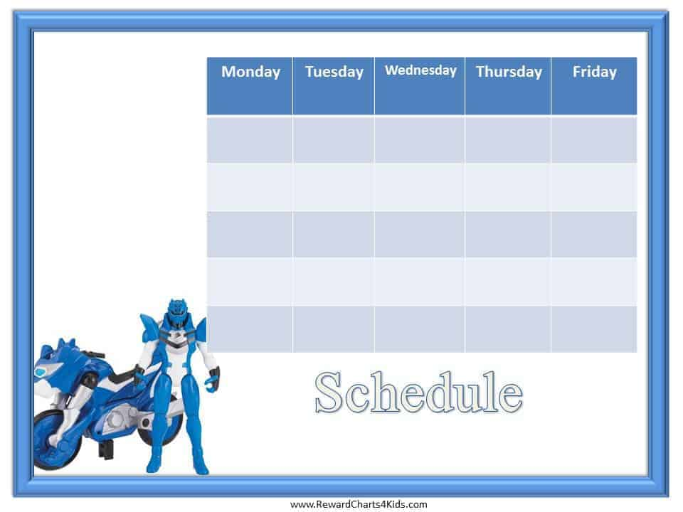 weekly schedules template