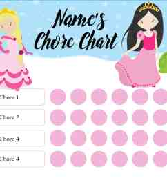 chore chart [ 2200 x 1700 Pixel ]