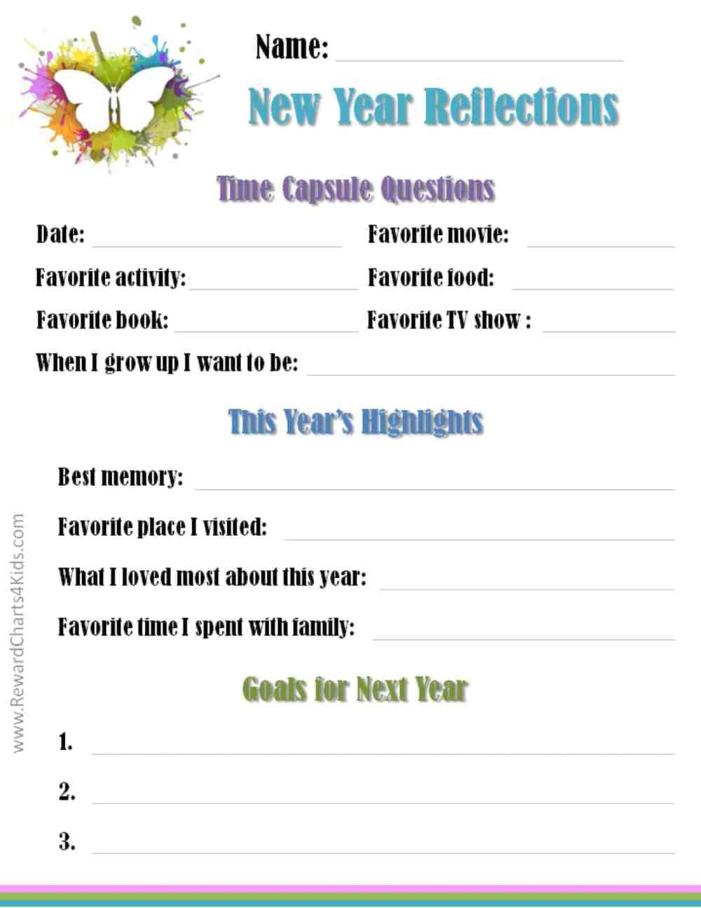 medium resolution of New Year's Resolutions for Kids with Free Printables