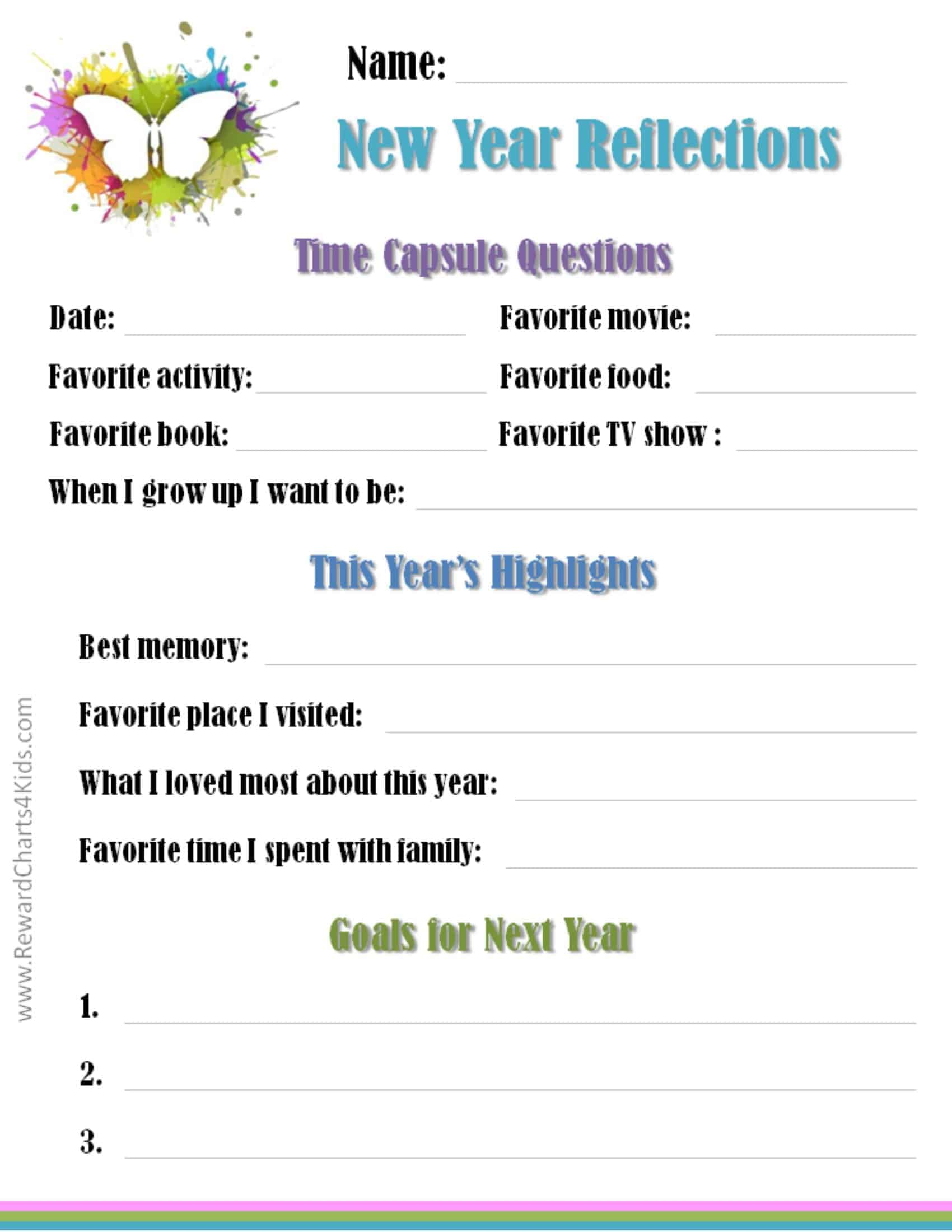 hight resolution of New Year's Resolutions for Kids with Free Printables