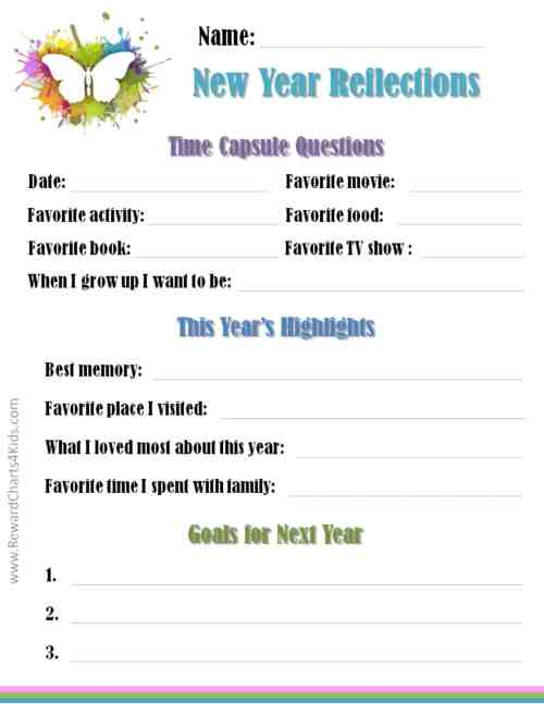 small resolution of New Year's Resolutions for Kids with Free Printables