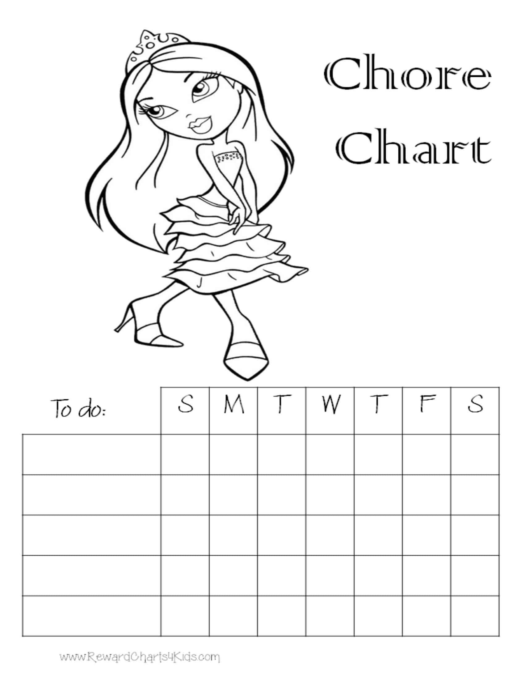 Blank Tally Chart Template For Kids Pdf Download