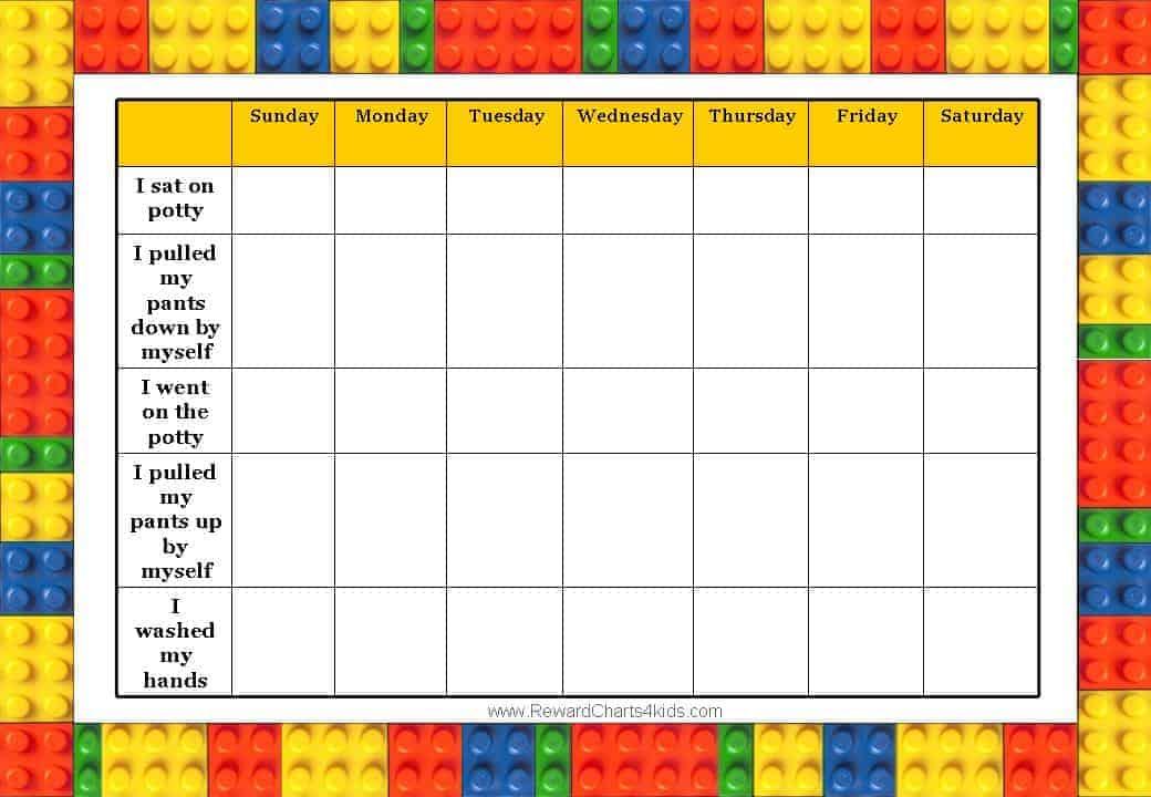 potty training incentive chart