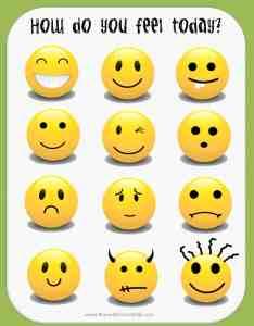 Feeling faces chart also free printable feelings instant download rh rewardcharts kids