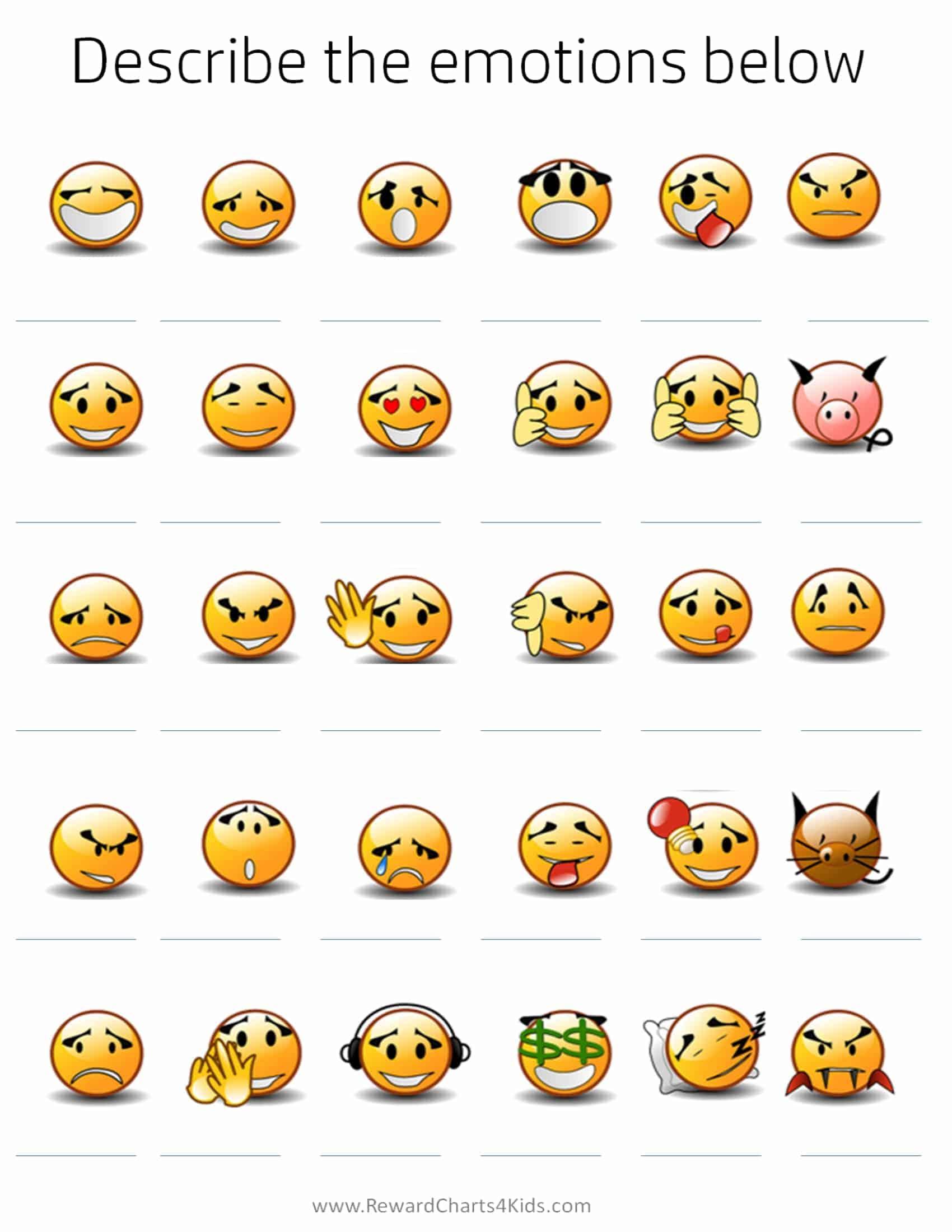 Emoji Feelings Printable That Are Amazing