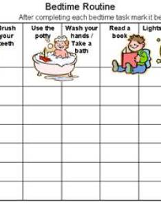 Nightime routine chart bedtime sleep issues also free printable customize online then print rh rewardcharts kids