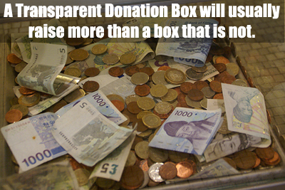 A Transpa Donation Box Usually Receives More Donations Than One That Is Not Learn Why
