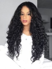 fluffy long curly black afro hairstyle