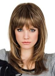 human hair medium length capless