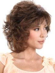 classic brown medium curly hair