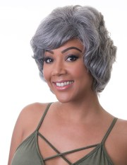 50's black women grey wavy hairstyle