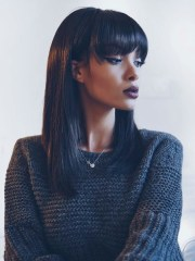 cute straight bob hairstyle black