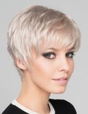 short pixie cut silver grey hair