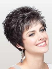 wavy synthetic cropped women wigs