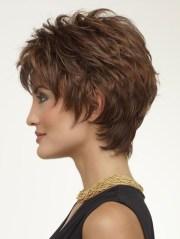 layered capless short wavy hair
