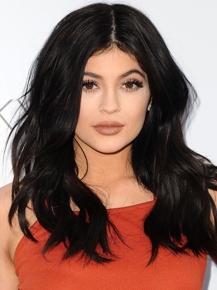 Image result for kylie in black hair