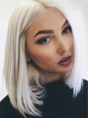 lace front shoulder length white