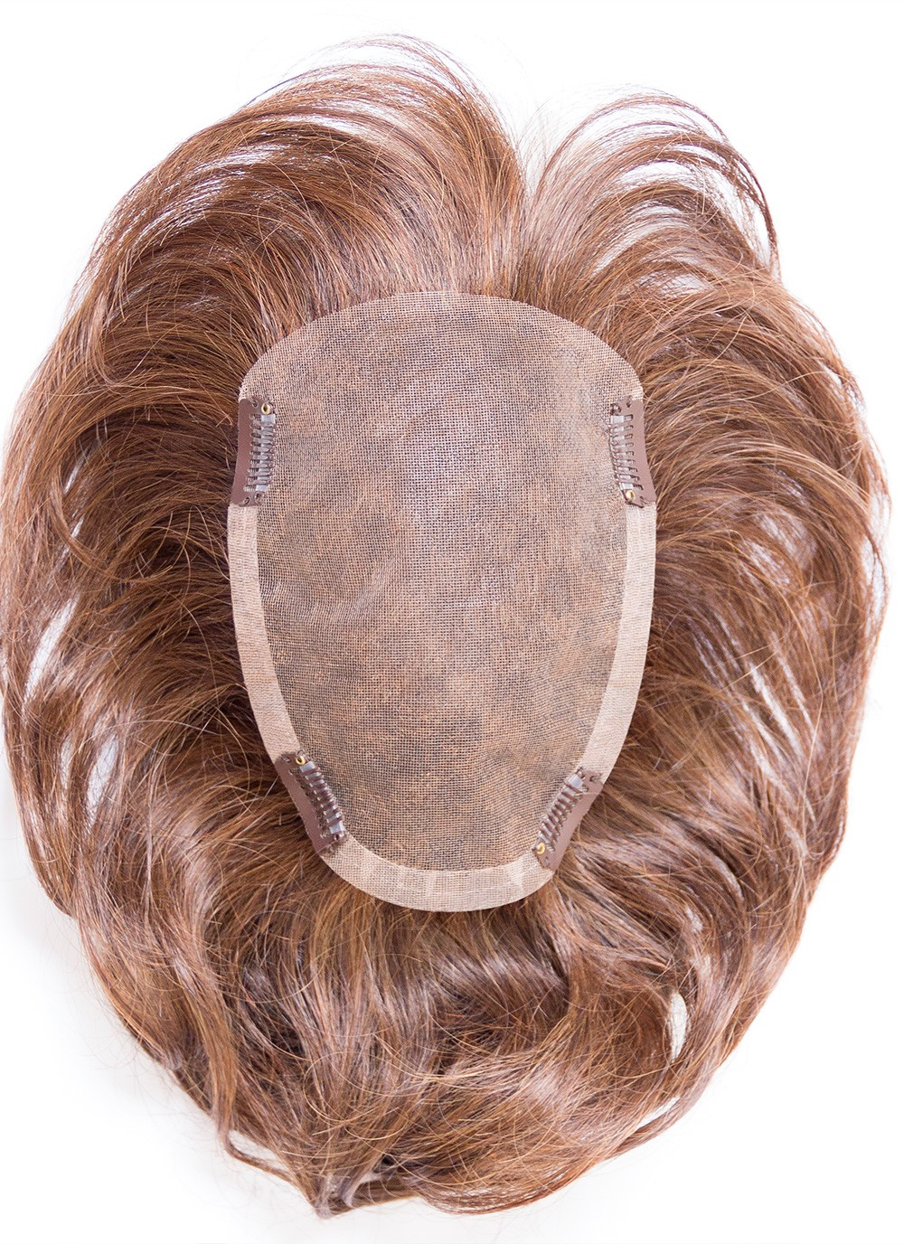 6 Straight Brown 100 Human Hair Mono Hair Pieces Best