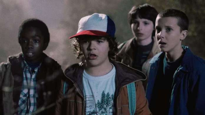 Dustin, Lucas, Mike a Eleven - Stranger Things