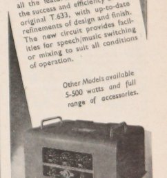 1946 trix t 633b amplifier advert [ 500 x 1732 Pixel ]
