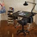 Ii glass top deluxe art amp drawing table rex art supplies