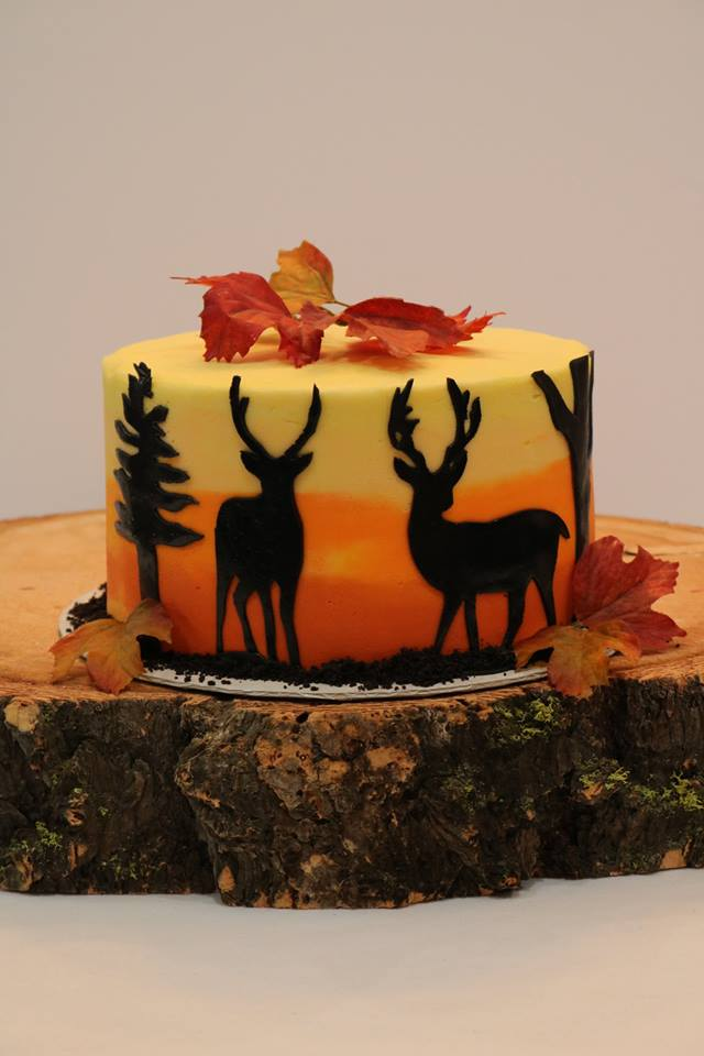 hunting themed birthday cake