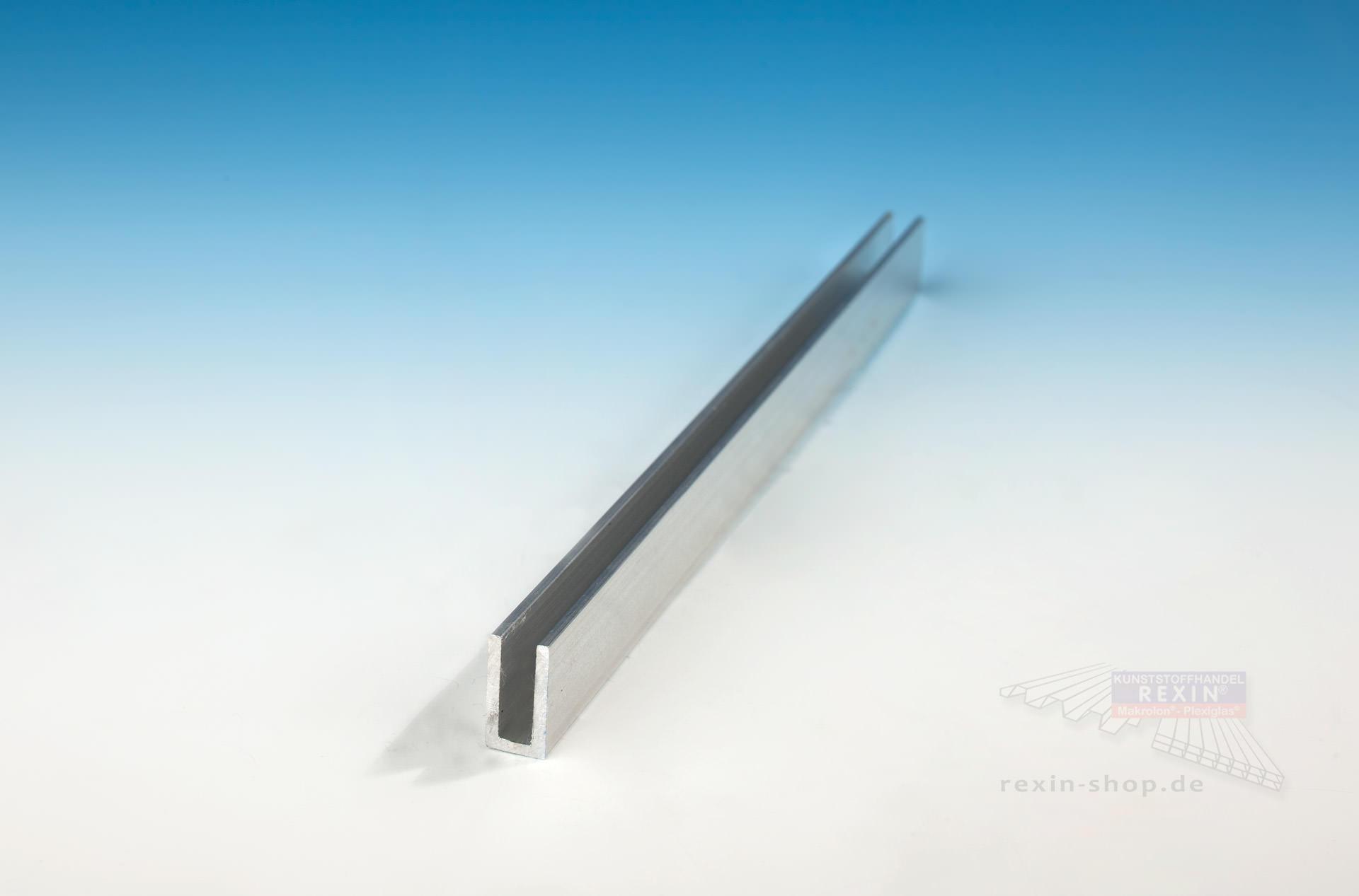 Alu U Profil Ohne Tropfkante Fur 6mm Platten Rexin Shop