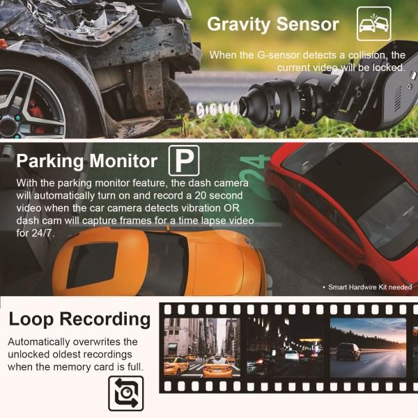 V1 4K list images Gsensor loop parking