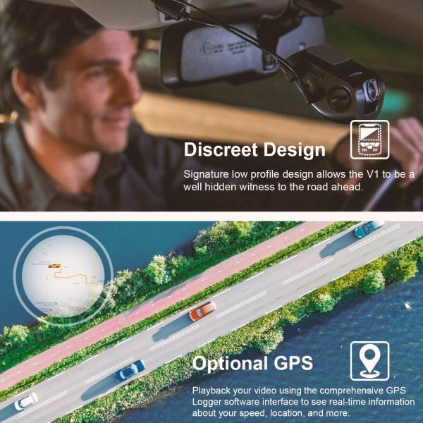 V1 4K list imgaes discreet design GPS