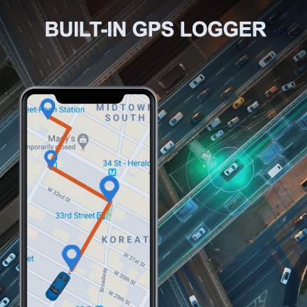 V1P Max BUILT IN GPS LOGGER 1
