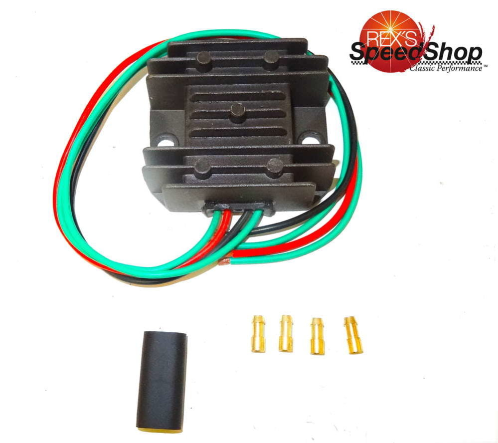 hight resolution of 6 volt solid state regulator rectifier rex u0027s speed shop6 volt solid state regulator rectifier