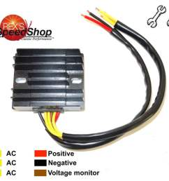 6 wire universal 12 volt regulator rectifier rex s speed shop 12 volt voltage regulator wiring [ 999 x 851 Pixel ]