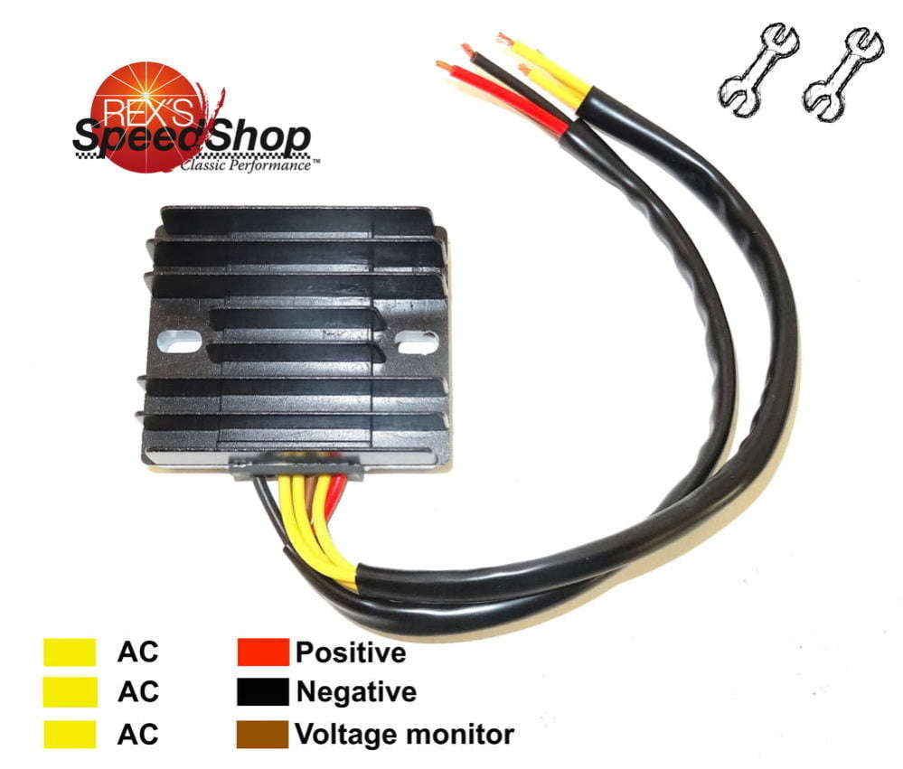 hight resolution of 6 wire universal 12 volt regulator rectifier rex s speed shop 12 volt voltage regulator wiring