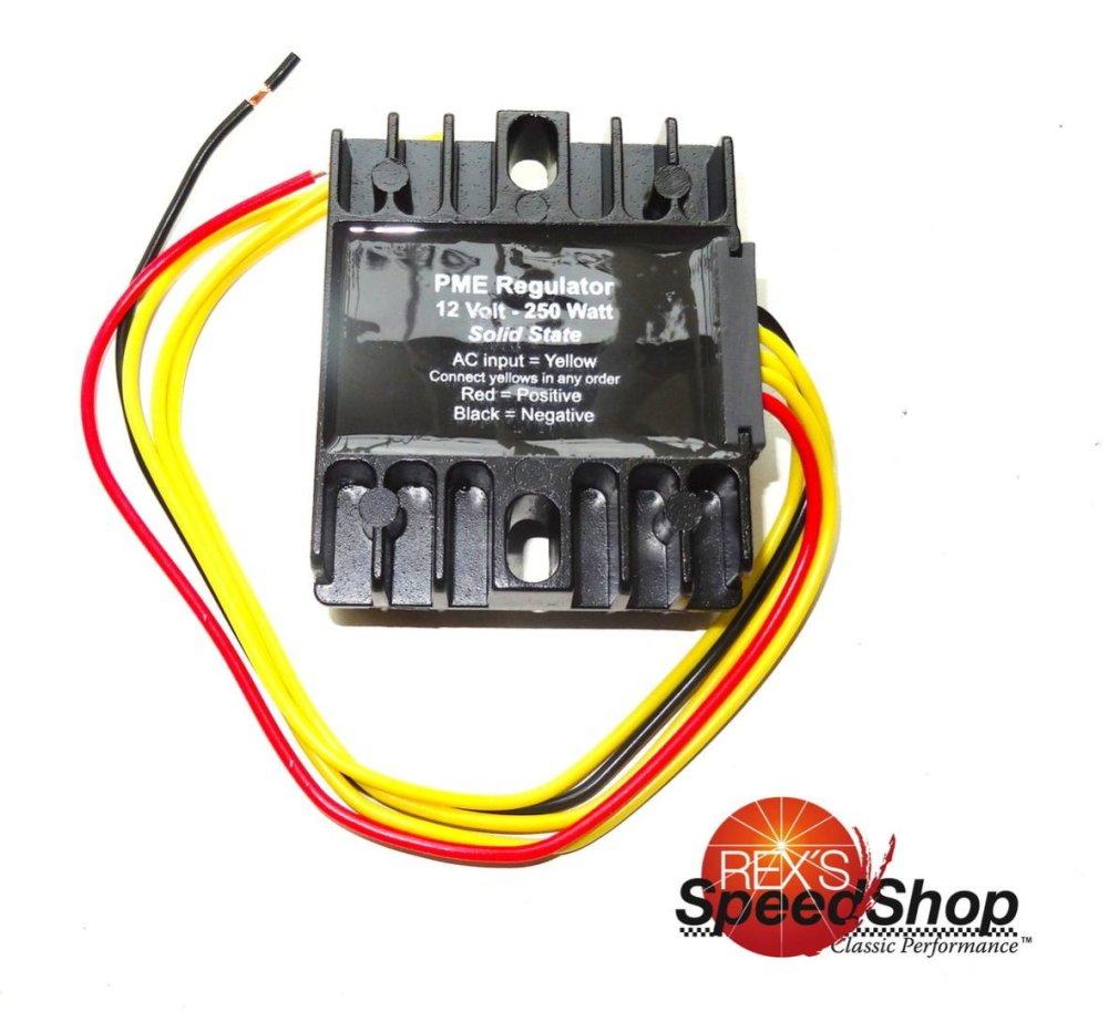 medium resolution of  wiring diagram switch light switch pme universal 12 volt 3 phase regulator rectifier rex s speed shop rh rexs speedshop com