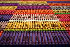sorted crayons